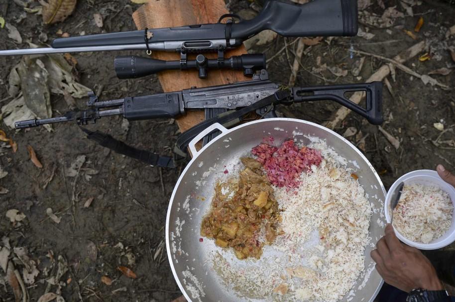 Alimentos consumidos por un guerrillero
