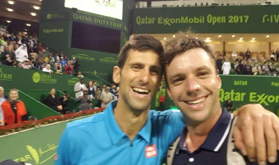 Selfi Djokovic y Zeballos