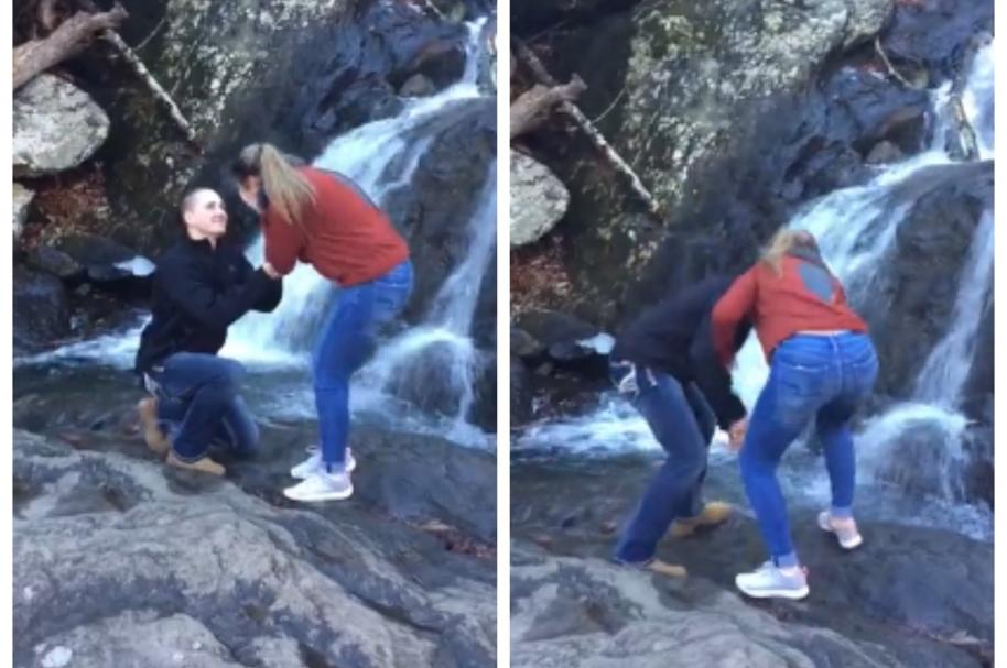 Anillo de compromiso cae en cascada. Pulzo.com