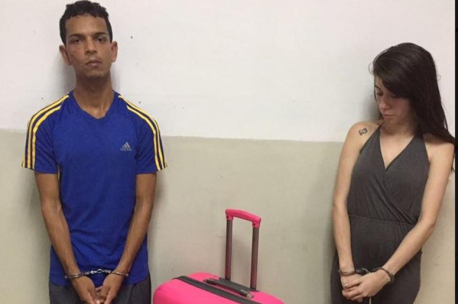 Capturados por sacar recluso en maleta