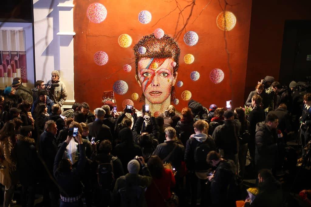 Tributo a David Bowie en Brixton, Londres.