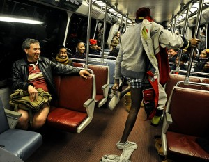 No Pants Subway Ride on Metro