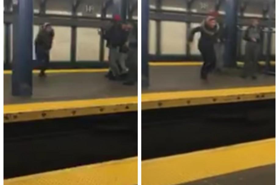 Mujer se accidente al saltar por carril de metro. Pulzo.com