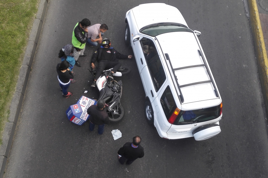 Accidente de motocicleta.