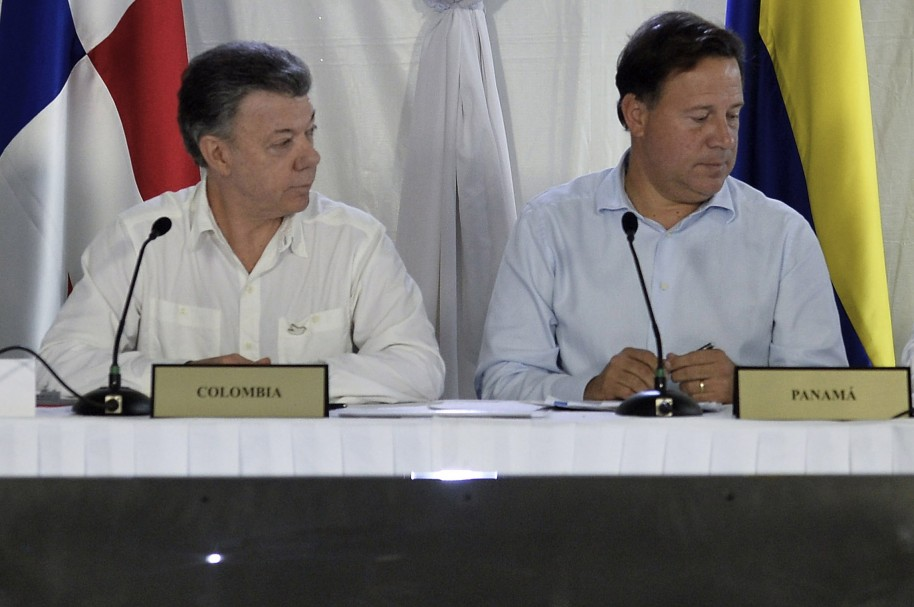 Juan Manuel Santos y Juan Carlos Varela, presidentes de Colombia y Panamá