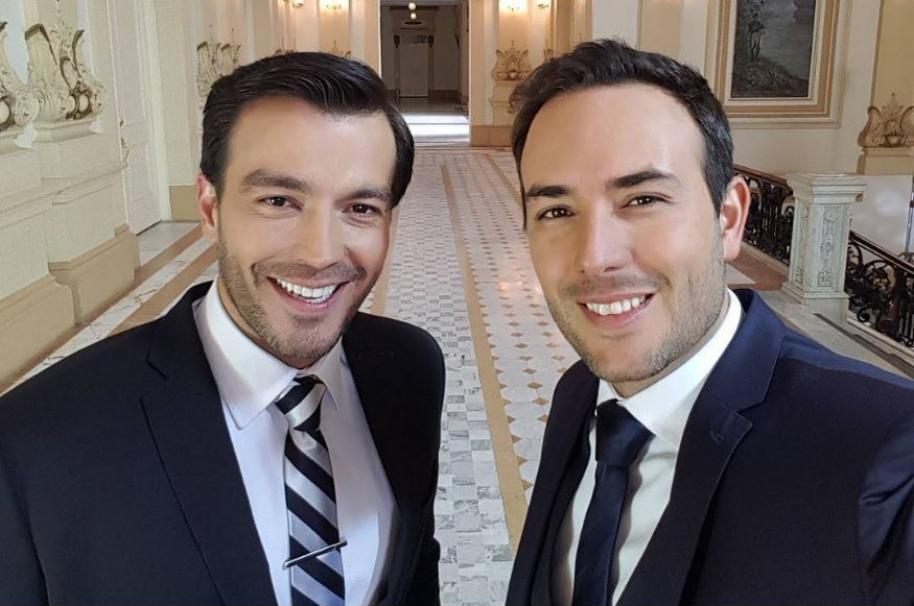 Luciano D'Alessandro y Sebastián Martínez, actores de 'La ley del corazón'.