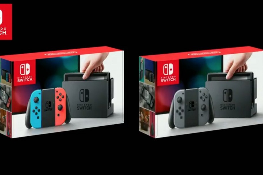 Dos versiones de la consola Nintendo Switch