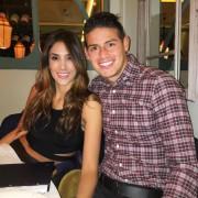 James Rodríguez, futbolista del Real Madrid y la Selección Colombia, y su esposa, la modelo y empresaria Daniela Ospina.