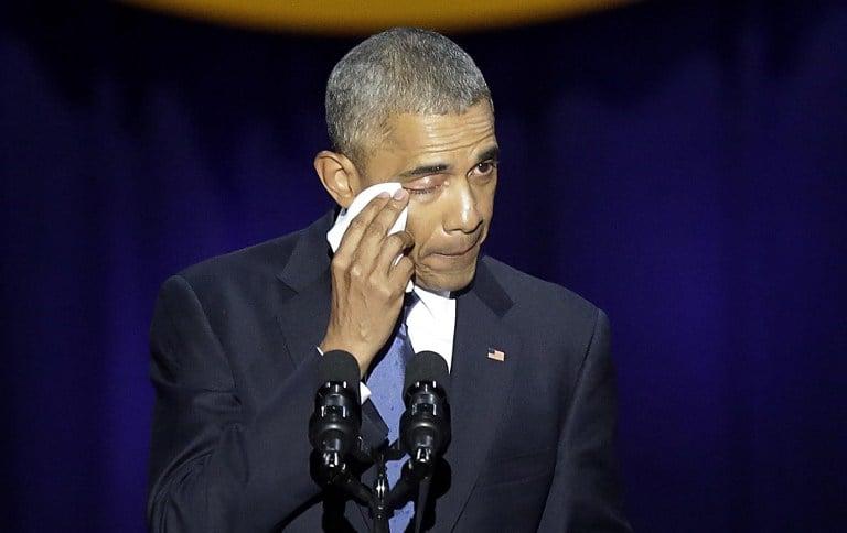 Obama llorando. Pulzo.com