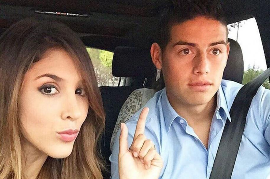 James Rodríguez, futbolista del Real Madrid y la Selección Colombia, y su esposa, la modelo y empresaria Daniela Ospina1
