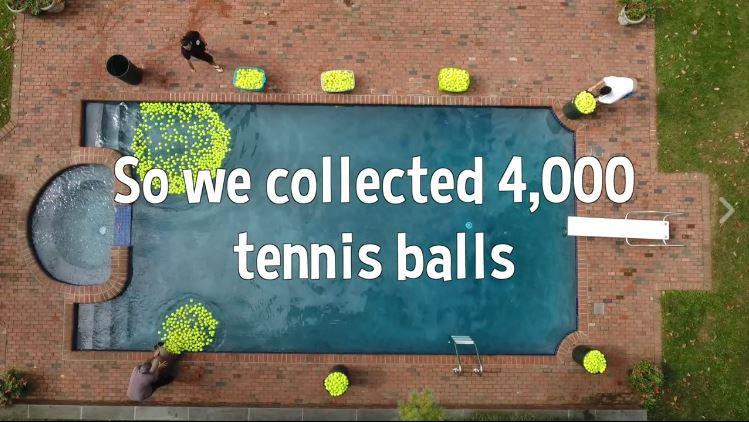 4000 pelotas de tenis