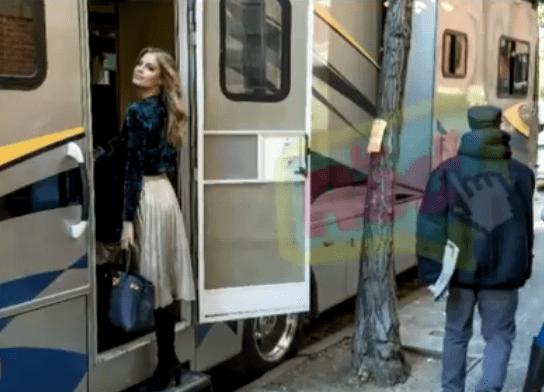 Ariadna Gutiérrez durante grabaciones de nuevo video de Carlos Vives. Pulzo.com