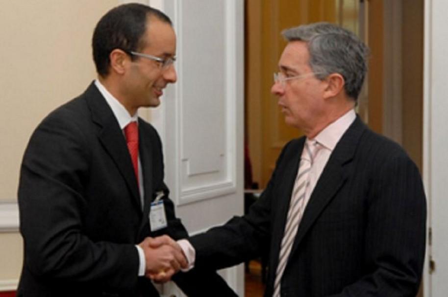 Marcelo Odebrecht y Álvaro Uribe