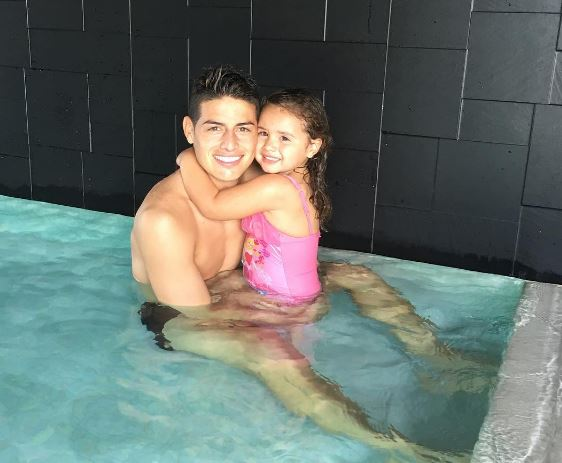 James Rodríguez y su hija Salomé
