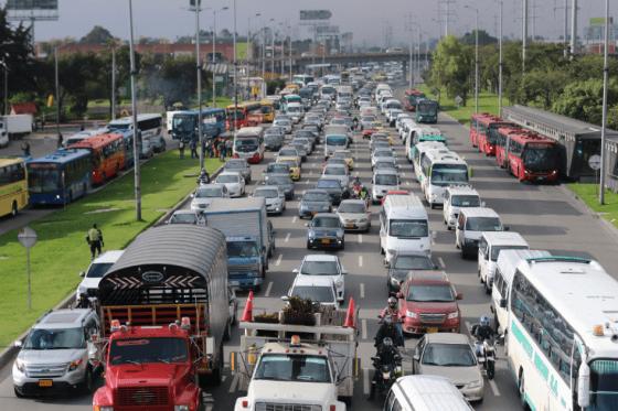 Carril exclusivo de rutas escolares en Bogotá