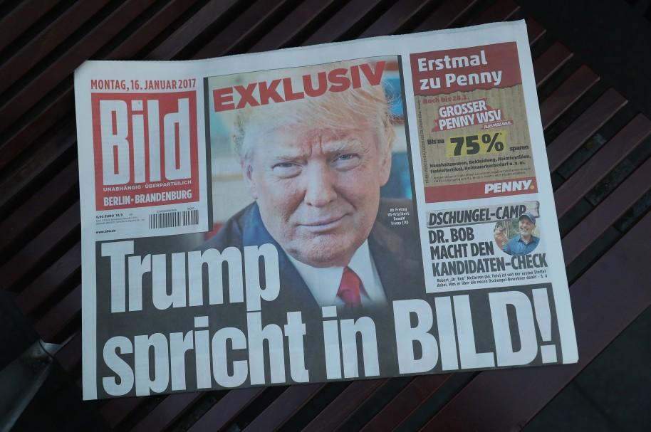 Donald Trump, portada de Bild