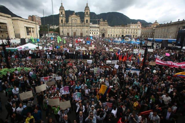 Protestas en Bogotá archivo