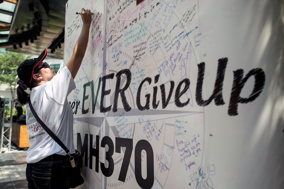 Familiares de las víctimas del MH370 rinden homenaje a los desaparecidos