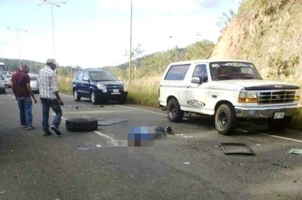 Accidente en carretera de Venezuela