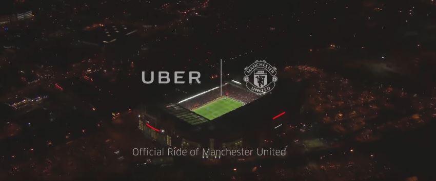 Logo Uber y Manchester United