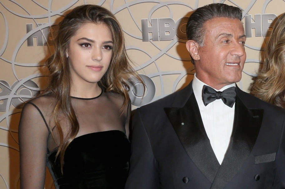 El actor Sylvester Stallone, junto a su hija Sistine Stallone.