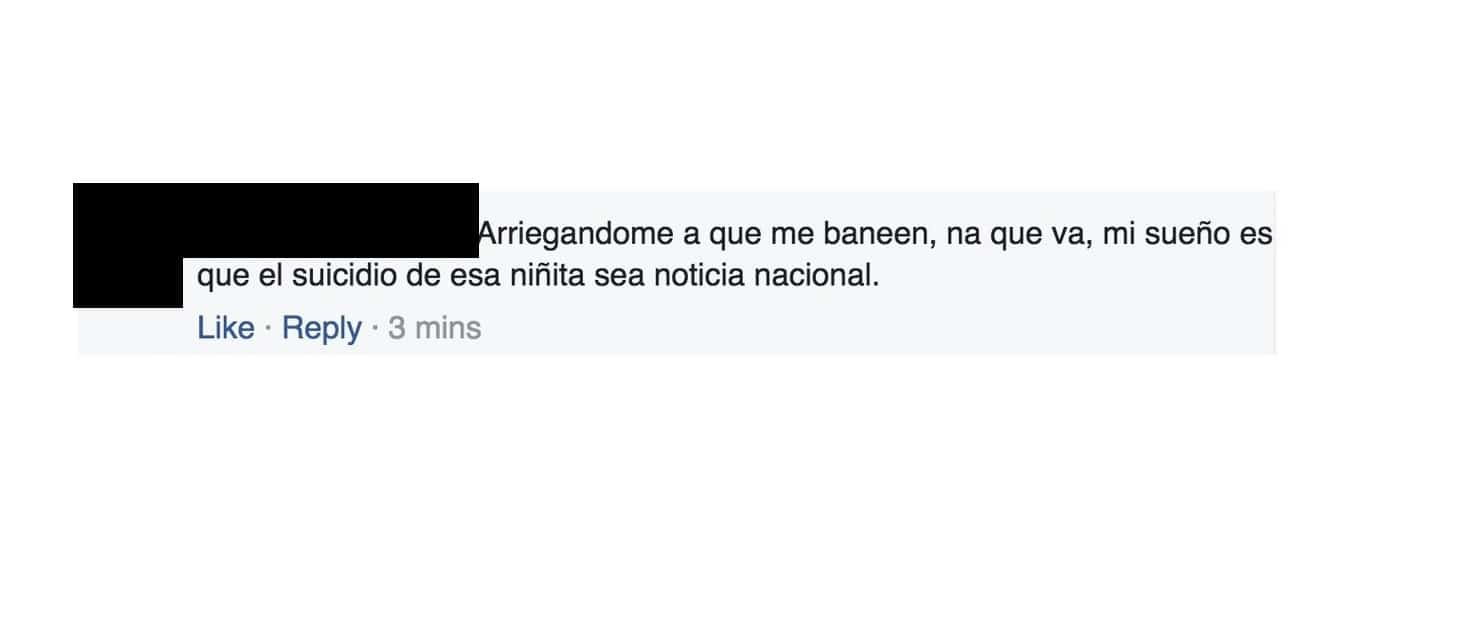 Comentario contra Sol Fonseca