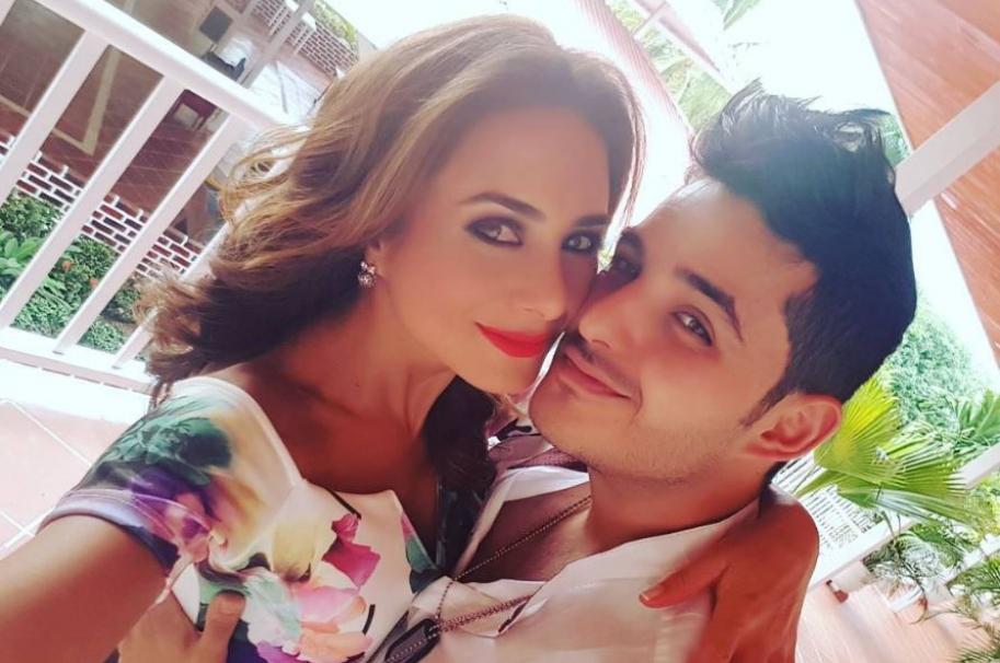 La actriz Johanna Fadul junto a su esposo, el actor Juan Sebastián Quintero.
