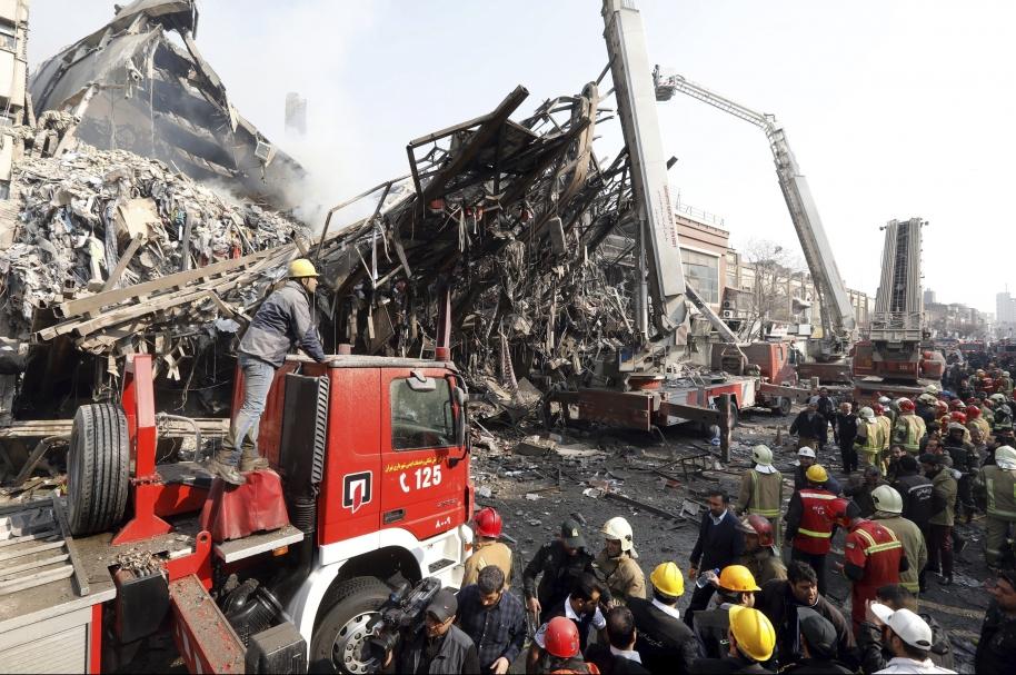 Escombros de edificio.