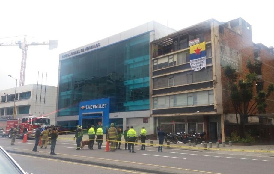 Explosión en edificio del centro de Bogotá