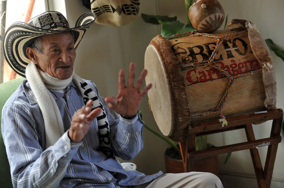 """Juan """"Chuchita"""" Fernández, vocalista de Los Gaiteros de San Jacinto"""