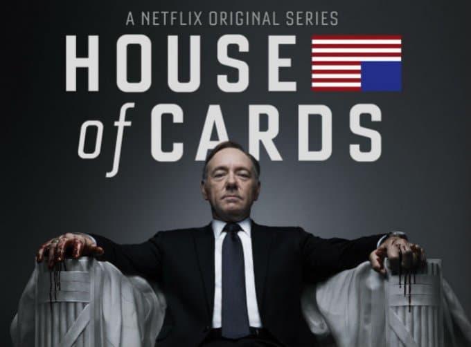 Kevin Spacey en el afiche de 'House of cards'