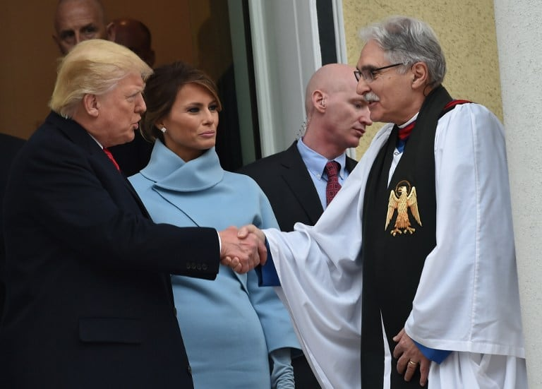 Oficio religioso de Trump