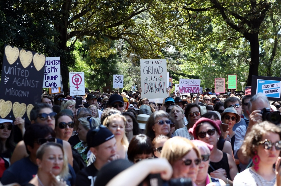 AUSTRALIA-US-WOMEN-POLITICS-INAUGURATION-PROTEST
