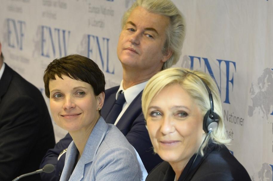 Líderes de la ultraderecaha europea.