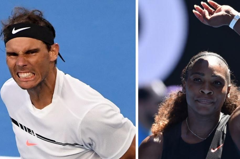 Rafael Nadal y Serena Williams, tenistas