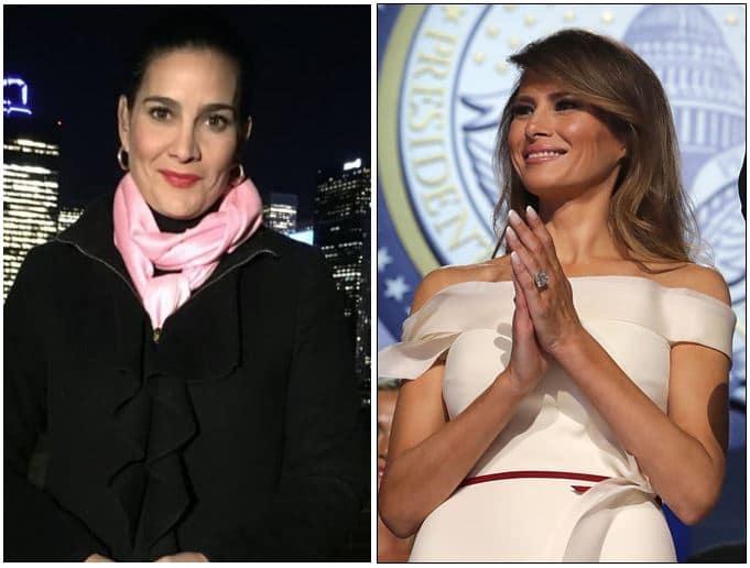 Vanessa de la Torre y Melania Trump