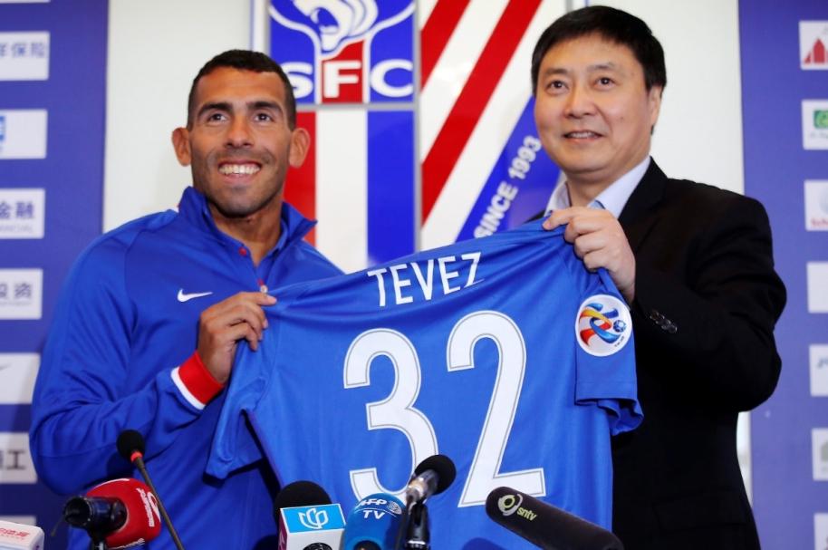 Tevez se presenta en China