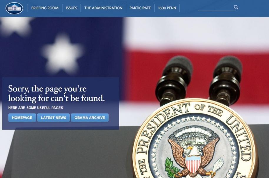 Página web Casa Blanca.