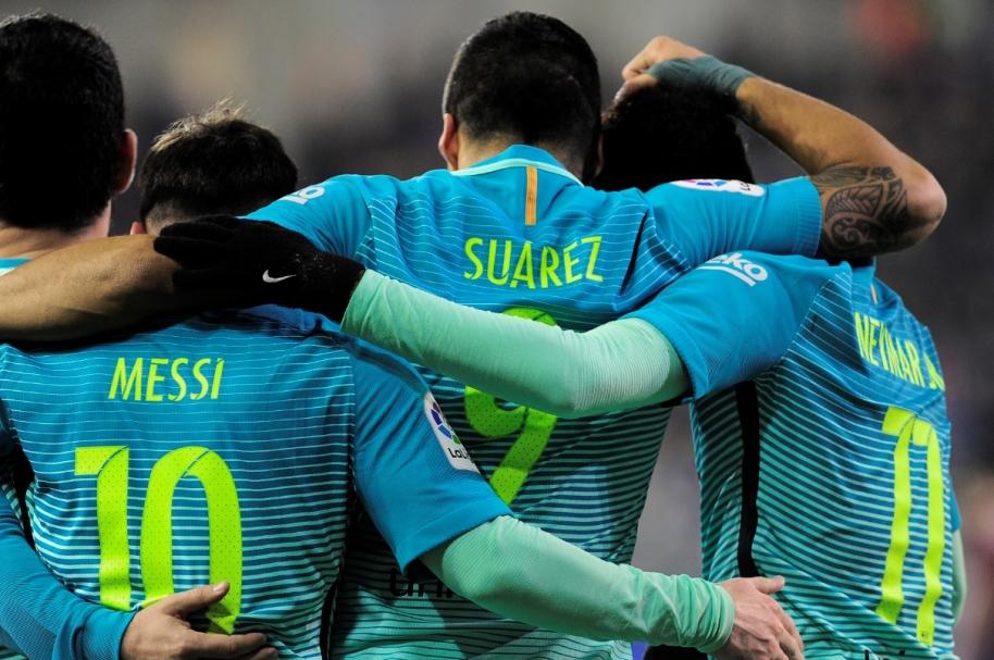 Messi, Suárez y Neymar