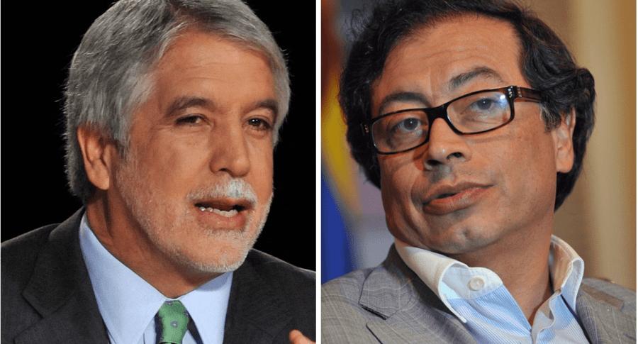 Alcalde Bogotá Enrique Peñalosa y exalcalde Gustavo Petro