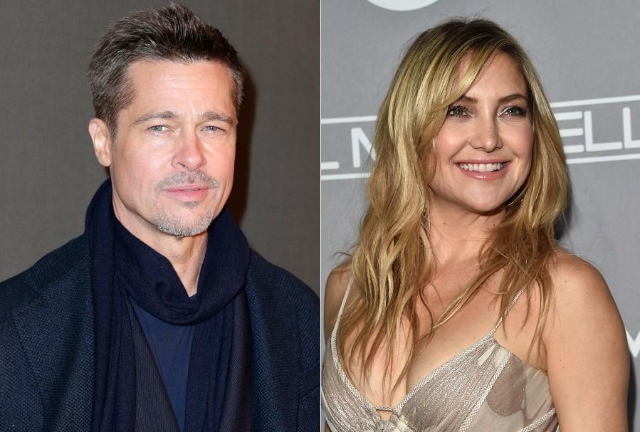 Los actores Brad Pitt y Kate Hudson.