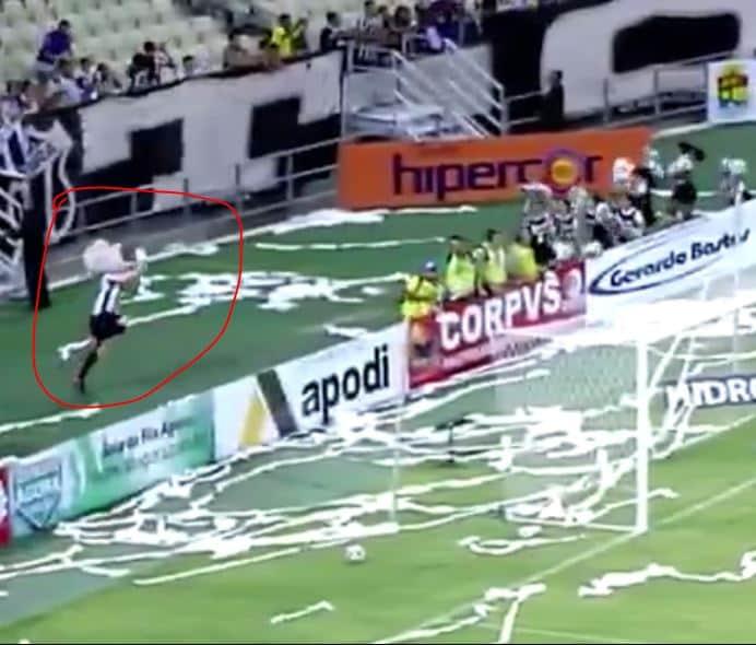 La imagen de la jornada en el fútbol brasilero