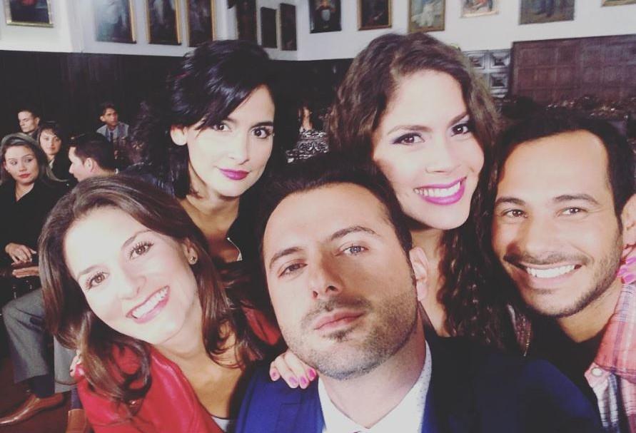 Natalia Jerez, Diana Hoyos, Mario Espitia, Katherine Castrillón y Carlos Enrique Almirante, actores de 'Sinú'.