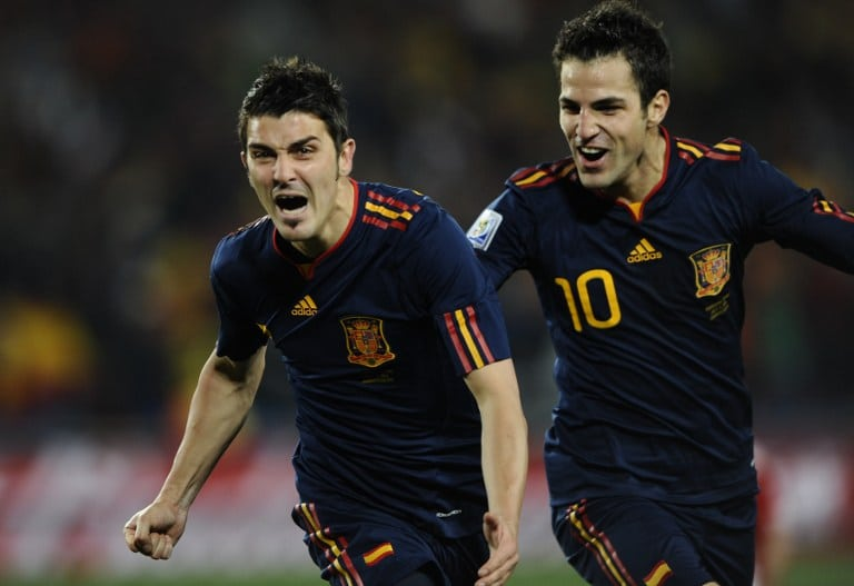 David Villa y Cesc Fabregas