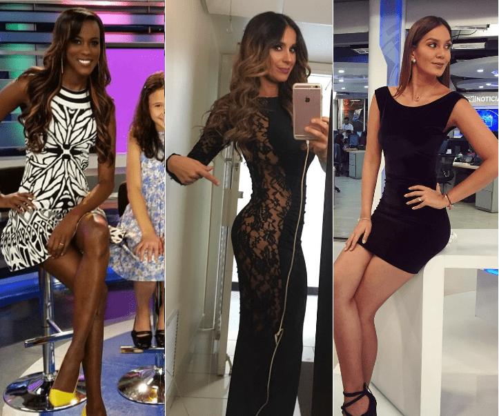 Claudia Lozano, presentadora de Noticias Caracol; Catherine Siachoque, actriz de 'Sin tetas sí hay paraíso'; y Catalina Robayo, presentadora de Noticias RCN.
