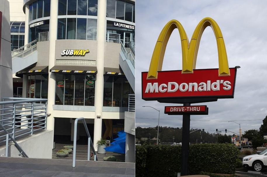 Subway y McDonald's