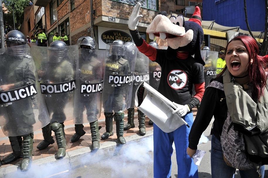 Manifestaciones en La Santamaría