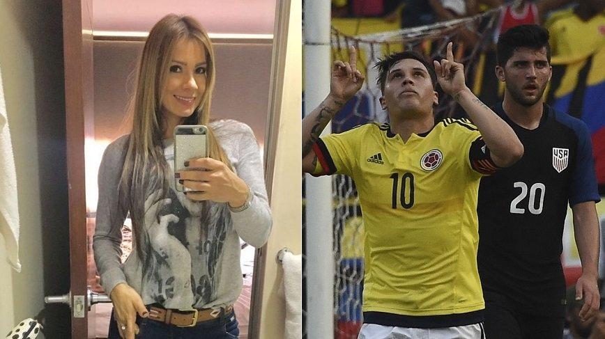 Esperanza Gómez, actriz porno, y Juan Fernando Quintero, jugador de Independiente Medellín y la Selección Colombia.