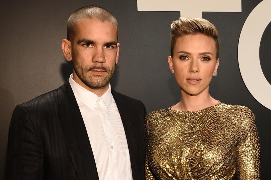 Romain Dauriac y Scarlett Johansson
