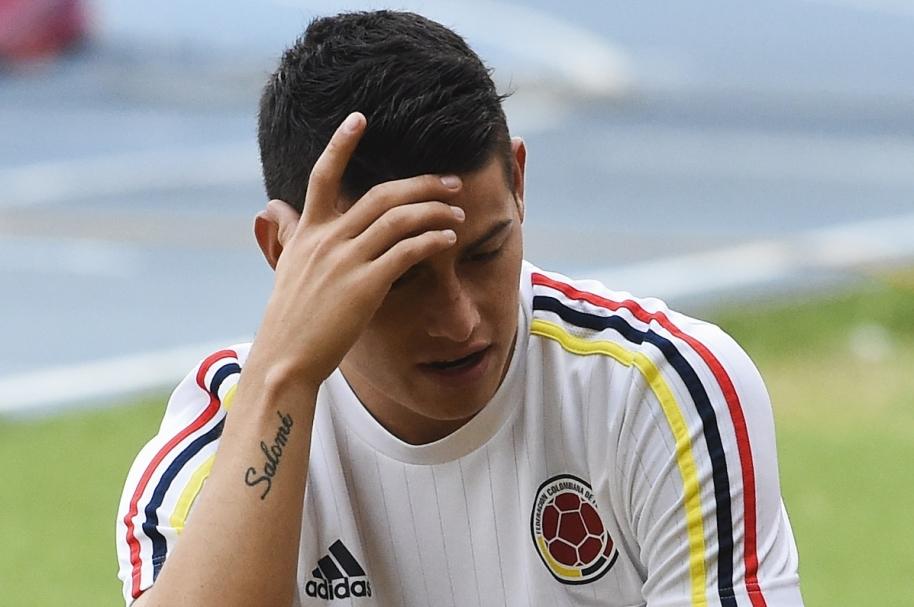 James Rodríguez, futbolista de la Selección Colombia y el Real Madrid.